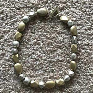 Sigrid Olsen Silver/Gold Chunky Beaded Necklace
